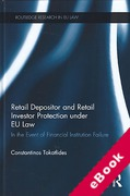 Cover of Retail Depositor and Retail Investor Protection under EU Law: In the Event of Financial Institution Failure (eBook)