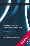 Cover of Contemporary Issues in Pharmaceutical Patent Law (eBook)