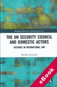 Cover of The UN Security Council and Domestic Actors: Distance in international law (eBook)