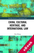 Cover of China, Cultural Heritage, and International Law (eBook)