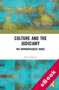 Cover of Culture and the Judiciary: The Anthropologist Judge (eBook)