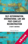 Cover of Self-Determination, International Law and Post-Conflict Reconstruction: A Right in Abeyance (eBook)