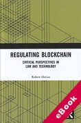 Cover of Regulating Blockchain: Critical Perspectives in Law and Technology (eBook)