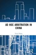Cover of Ad Hoc Arbitration in China