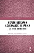 Cover of Health Research Governance in Africa