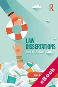 Cover of Law Dissertations: A Step-by-Step Guide (eBook)