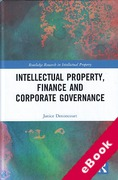 Cover of Intellectual Property, Finance and Corporate Governance (eBook)