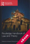 Cover of Routledge Handbook of Law and Theory (eBook)