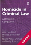 Cover of Homicide in Criminal Law: A Research Companion (eBook)