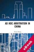 Cover of Ad Hoc Arbitration in China (eBook)