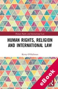 Cover of Human Rights, Religion and International Law (eBook)