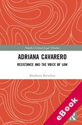 Cover of Adriana Cavarero: Resistance and the Voice of Law (eBook)