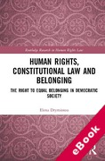 Cover of Human Rights, Constitutional Law and Belonging: The Right to Equal Belonging in Democratic Society (eBook)