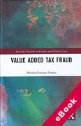 Cover of Value Added Tax Fraud (eBook)