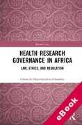 Cover of Health Research Governance in Africa (eBook)