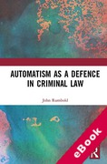 Cover of Automatism as a Defence (eBook)
