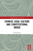 Cover of Chinese Legal Culture and Constitutional Order