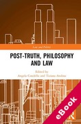 Cover of Post-Truth, Philosophy and Law (eBook)