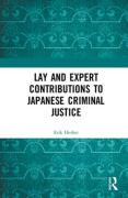 Cover of Lay and Expert Contributions to Japanese Criminal Justice