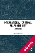 Cover of International `Criminal' Responsibility: Antinomies (eBook)