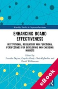 Cover of Enhancing Board Effectiveness: Institutional, Regulatory and Functional Perspectives for Developing and Emerging Markets (eBook)