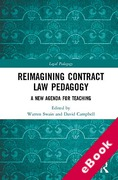 Cover of Contract Law Pedagogy in the 21st Century (eBook)