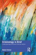 Cover of Criminology in Brief: Understanding Crime and Criminal Justice
