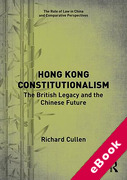 Cover of Hong Kong Constitutionalism: The British Legacy and the Chinese Future (eBook)