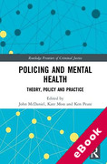 Cover of Policing and Mental Health: Theory, Policy and Practice (eBook)