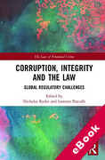 Cover of Corruption, Integrity and the Law: Global Regulatory Challenges (eBook)