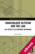 Cover of Shareholder Activism and the Law: The Future of US Corporate Governance (eBook)