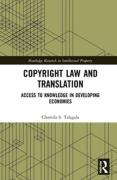 Cover of Copyright Law and Translation: Access to Knowledge in Developing Economies