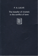 Cover of The Transfer of Chattels in the Conflict of Laws