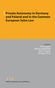 Cover of Private Autonomy in Germany and Poland and in the Common European Sales Law