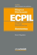 Cover of ECPIL: Rome II Regulation: Commentary