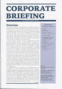 Cover of Corporate Briefing: Print Only