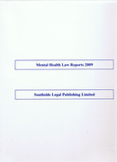 Cover of Mental Health Law Reports