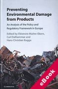 Cover of Preventing Environmental Damage from Products: An Analysis of the Policy and Regulatory Framework in Europe (eBook)