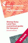 Cover of Stamp Duty Land Tax: A Practical Guide for Lawyers (eBook)