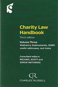 Cover of Charity Law Handbook 3rd ed:  Book & CD-ROM Pack