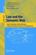 Cover of Law and the Semantic Web: Legal Ontologies, Methodologies, Legal Information Retrieval, and Applications