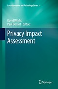 Cover of Privacy Impact Assessment
