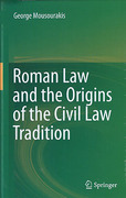 Cover of Roman Law and the Origins of the Civil Law Tradition