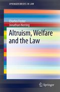 Cover of Altruism, Welfare and the Law