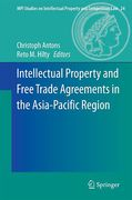 Cover of Intellectual Property and Free Trade Agreements in the Asia-Pacific Region
