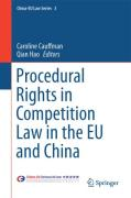 Cover of Procedural Rights in Competition Law in the EU and China