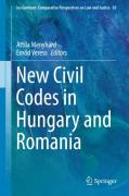 Cover of New Civil Codes in Hungary and Romania