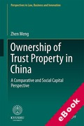 Cover of Ownership of Trust Property in China: A Comparative and Social Capital Perspective (eBook)