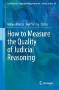 Cover of How to Measure the Quality of Judicial Reasoning