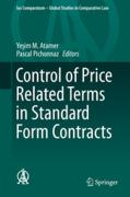 Cover of Control of Price Related Terms in Standard Form Contracts